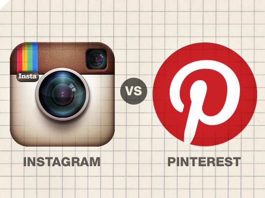 comparing pinterest and instagram