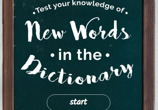 purplecv quiz new words in the dictionary 2019
