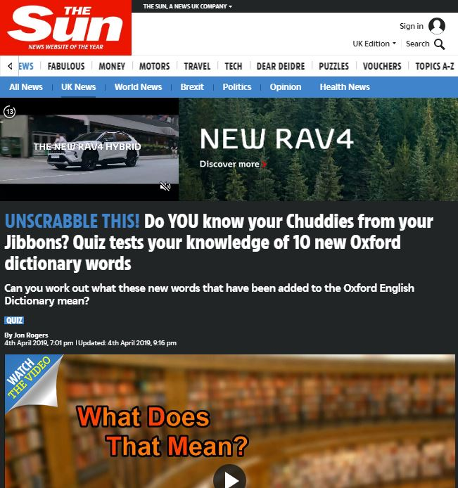 Running a PR campaign: The Sun article